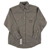 RASCO GFR1014 10 Oz Gray Fire Retardant Long Sleeve Western Style Shirt
