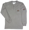 RASCO GTF454 Gray Fire Retardant Long Sleeve Cotton Henley