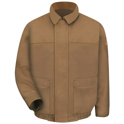 Bulwark JLB8 EXCEL FR Brown Duck Lined Bomber Jacket