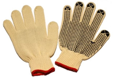 Seattle Glove K20D 100% Kevlar String Knit Cut Resistant Glove - Dots On One Side