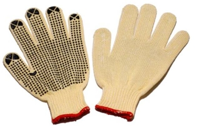 Seattle Glove KC24D Kevlar/Cotton String Knit Cut Resistant Gloves - Dots On One Side