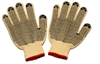 Seattle Glove KC24DD Kevlar/Cotton String Knit Cut Resistant Gloves - Dots On Both Side