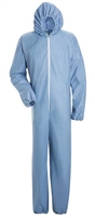 Bulwark KDE4 Sky Blue Chemical Splash Disposable Flame-Resistant Coverall