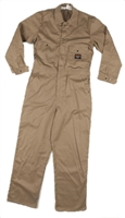 RASCO KFR751 7.5 Oz Khaki Cotton Fire Retardant Coverall