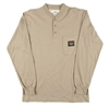 RASCO KTF452 Khaki Fire Retardant Long Sleeve Cotton Henley