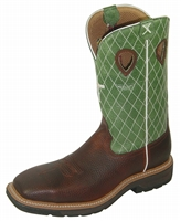 Twisted X MLCS002 Men's Lite Cowboy Steel Toe Work Boot With Embroidered Cross