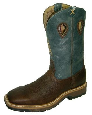Twisted X MLCS006 Men's Lite Cowboy Steel Toe Work Boot With Embroidered Rig