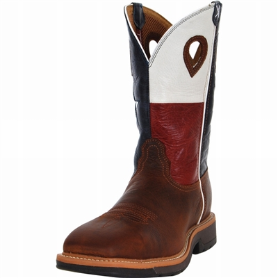 Twisted X MLCS007 Men's Lite Cowboy Steel Toe Work Boot With Texas Flag