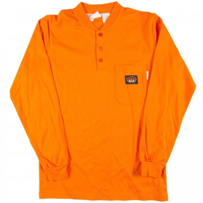RASCO OTF455 Orange Fire Retardant Long Sleeve Cotton Henley