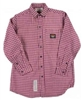 RASCO PLR756 7.5 Oz Red Plaid Fire Retardant Long Sleeve Dress Shirt