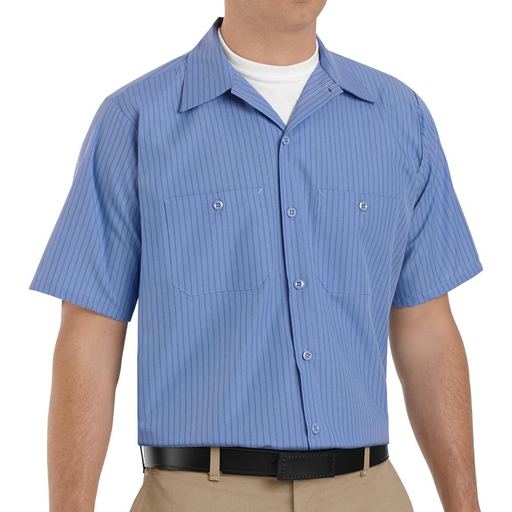 Red Kap Work Shirt Solid Color 2 Pocket Men/'s Industrial Uniform Long Sleeve