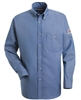 Bulwark SEG2 Light Blue Denim EXCEL FR Button-Front Dress Uniform Shirt
