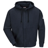 Bulwark SEH4 FR Zip-Front Hooded Sweatshirt - Cotton/Spandex Blend