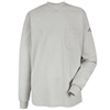 Bulwark SEL2 Long Sleeve Flame-Resistant Tagless Henley Shirt