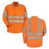Red Kap SS14OF Orange Hi-Visibility Work Shirt Class 3 Level 2
