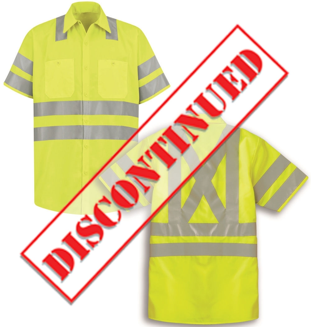 Red Kap Ss24sb Hi Vis Work Shirt Class 3 Level 2 X Striping