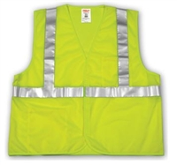 Tingley V70622 Lime Class 2 Vest - Polyester Mesh - Hook And Loop Closure