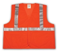 Tingley V70629 Orange Class 2 Vest - Polyester Mesh - Hook And Loop Closure