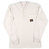 RASCO WTF456 White Fire Retardant Long Sleeve Cotton Henley