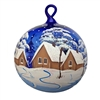 German Handpainted Ball With Cabin & Winter Scenes