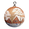 German Handpainted Ball With Winter Scenes Chalets