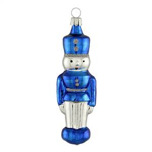 Silver & Blue Nutcracker Ornament