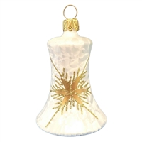 German Bell Ice White with Gold Snowflake