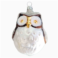 Large Brown & White Frost Owl