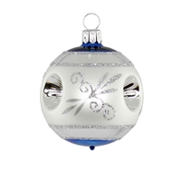 Reflector Ball Silver Blue  2.2""