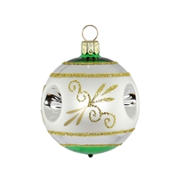 Green & Gold Reflector Ball