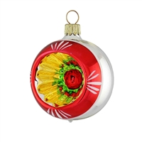 Reflector Ball Retro Red  2.2""