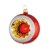 Reflector Ball Red Multi-Color  2.2""