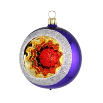 Reflector Ball  Purple  2.2""