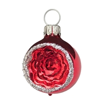 Mini Gloss Red & Silver Reflector Ball