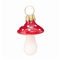 German Blown Glass Mini Mushroom Ornament