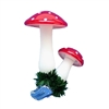 German Clip-On Double Mushroom Ornament