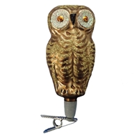 Clip-On Gold Owl
