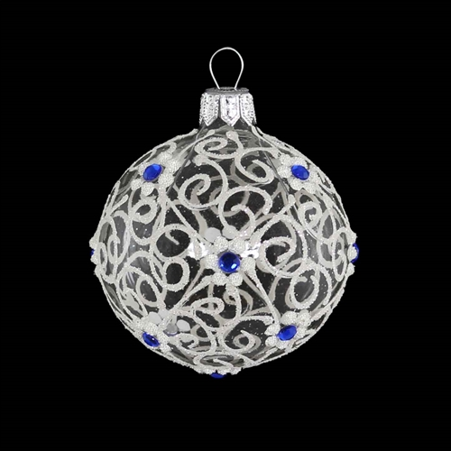 Ball Lapis Blue & White Transparent