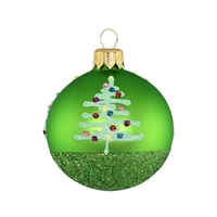 Ball Merry Christmas! Apple Green