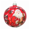 Santa W/ Candle Handpainted Ball