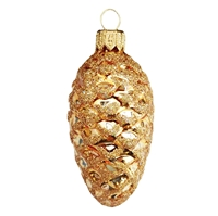 Gold Pine Cone With Gold Glitter