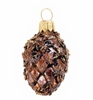Brown & Gold Pine Cone Ornament
