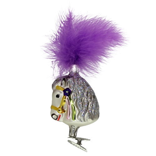 Inge Glas Show Horse With Purple Plume