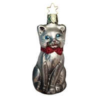 Inge Glas Silver Black Cat