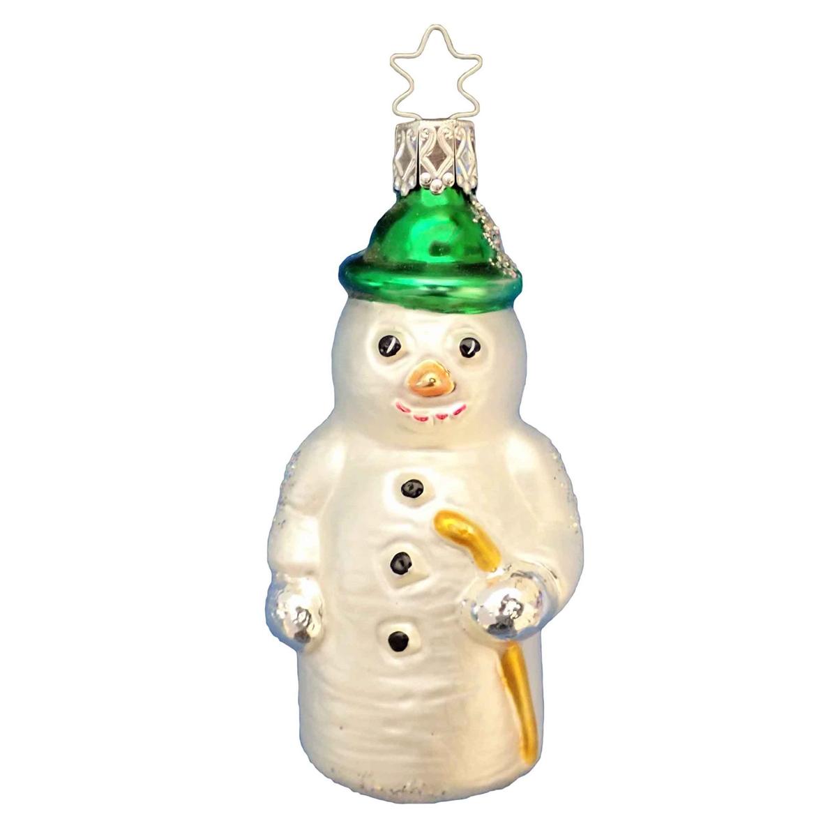 German Blown Glass Snowman Christmas Tree Ornament X Mas Decorations