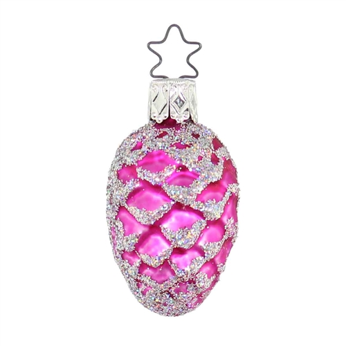 Inge Glas Pink Pine Cone With Silver