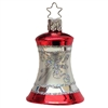 Inge Glas Silver Bell With Red Top