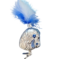 Inge Glas Show Horse With Blue & White Plume