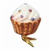 Inge Glass Clip On White Cupcake Candy Sprinkles