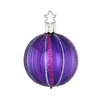 Inge Ball Fancy Stripes Purple  2.2""